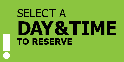 Select a day and time to reserve button